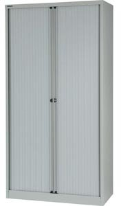 Bisley Essentials Tambour High Cupboard Goose Grey
