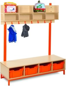 Bubblegum Cloakroom Bottom With 4 Deep Trays