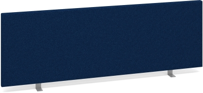 Dams Desk Mounted Straight Fabric Screen 1200 x 400mm