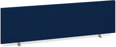 Dams Desk Mounted Straight Fabric Screen 1400 x 400mm