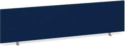 Desk Mounted Straight Fabric Screen 1600 x 400mm