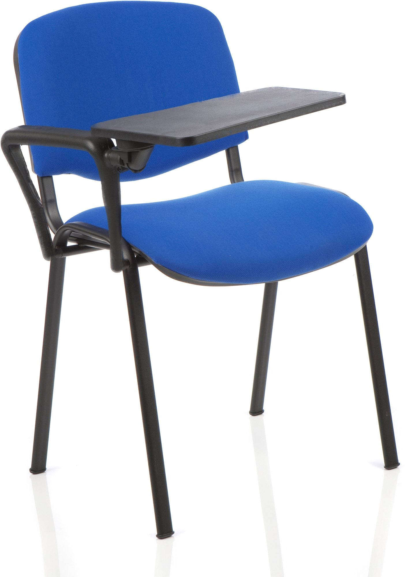 gentoo iso black frame stacking conference chair fabric finish with