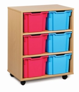 Classic Tray Storage Unit 6 Extra Deep Trays