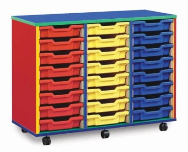 Colour My World Tray Storage 3 Bay 24 Shallow Tray Units