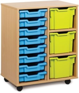 Classic Tray Storage Unit 8 Shallow and 3 Extra Deep Trays