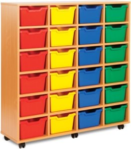Cubby Tray Storage 4 Bay 24 Tray Units