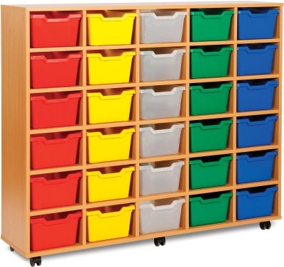 30 Cubby Tray Unit