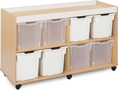 Bubblegum Tray Storage Unit 4 Bay 8 Jumbo Trays
