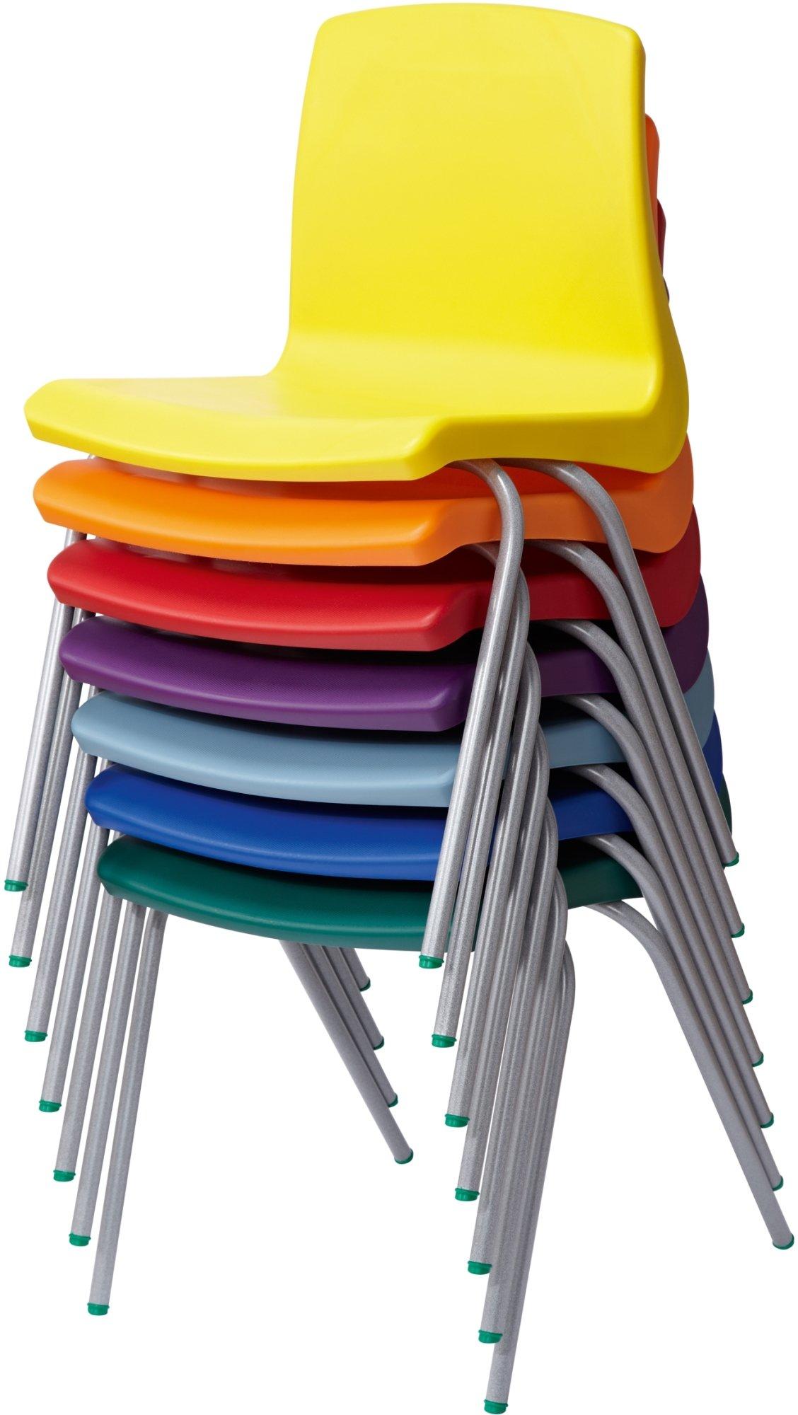 Metalliform NP Classroom Chairs Size 3 6 8 Years