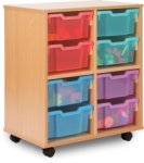 Allsorts Tray Storage Unit 2 Bay 8 Deep Trays