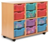 Allsorts Tray Storage Unit 3 Bay 12 Deep Trays