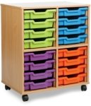 Allsorts Tray Storage Unit 2 Bay 16 Shallow Trays