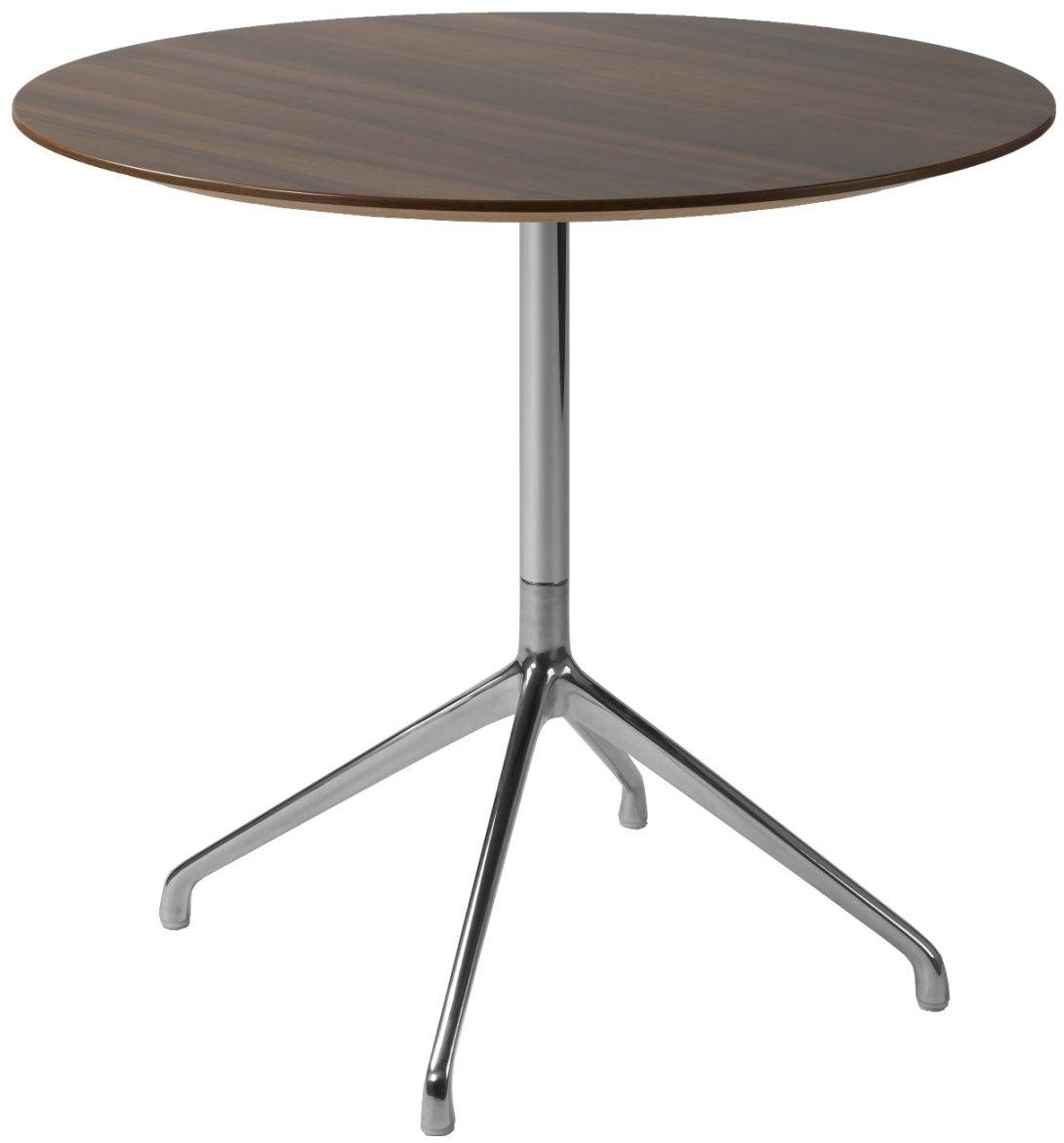 Fr vi era circular dining table with chrome frame for Circular dining table