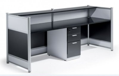 Dynamic High Gloss Reception Desk