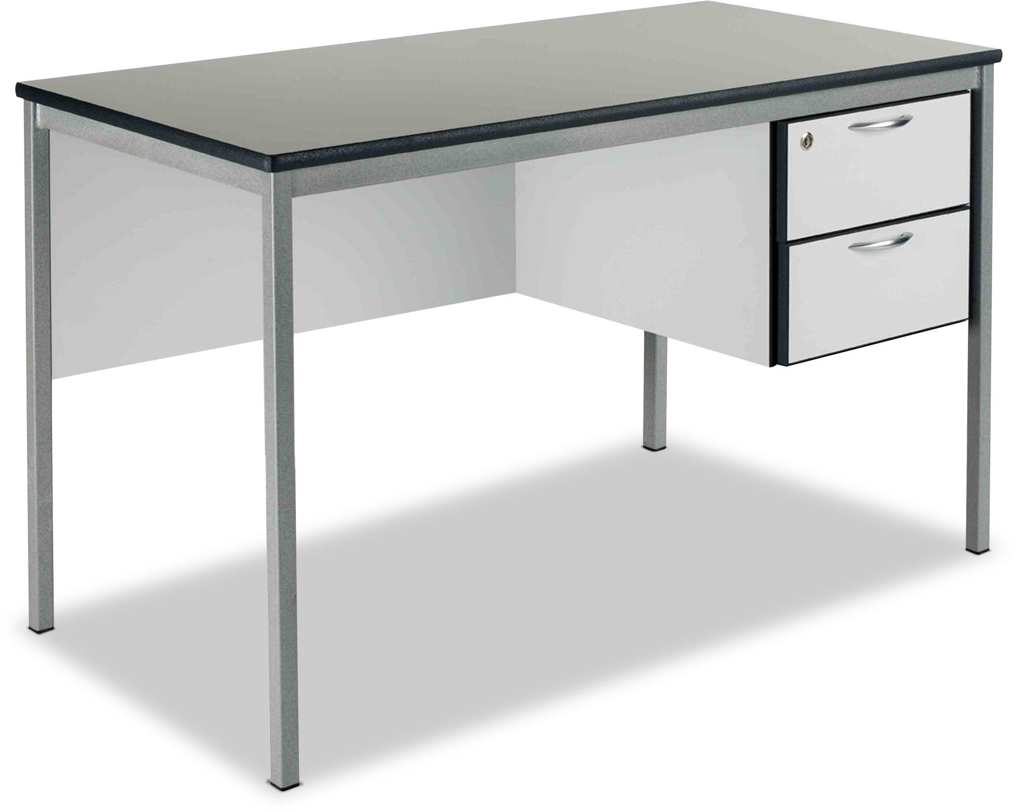 Metalliform Teachers 2 Drawer Fully Welded Frame Desk 1200mm x 600mm ...