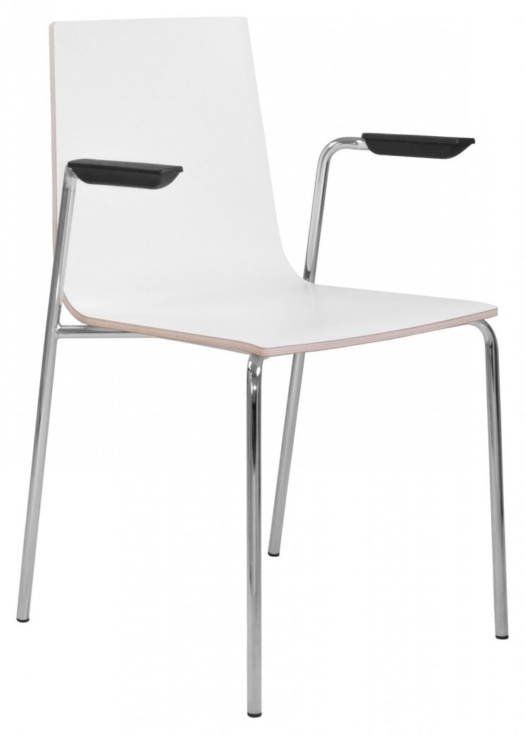 Elite Multiply Breakout Chair With Arms & White Frame - Wenge Finish