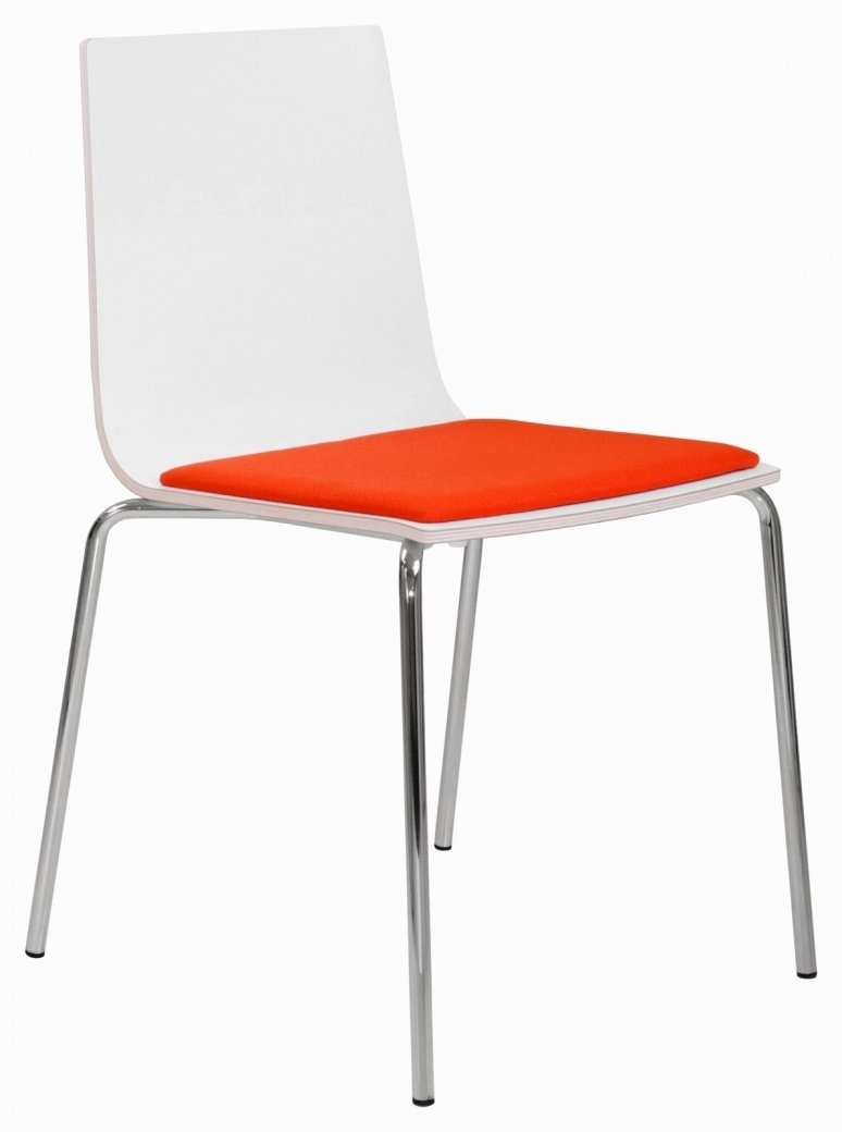 Elite Multiply Breakout Chair With White Frame & Upholstered Seat ...